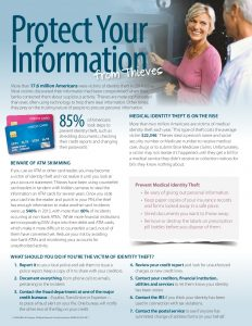Identity Theft is huge! Protect your information.